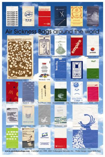 Air Sickness Bags Around The World Poster