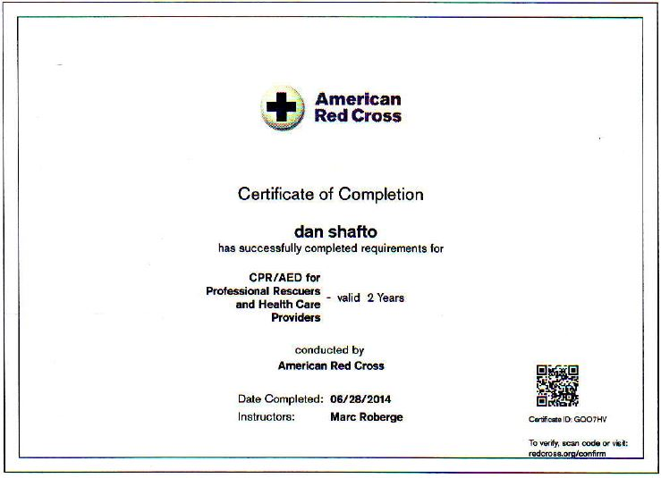 Free Professional Resume Red Cross Certification Lookup
