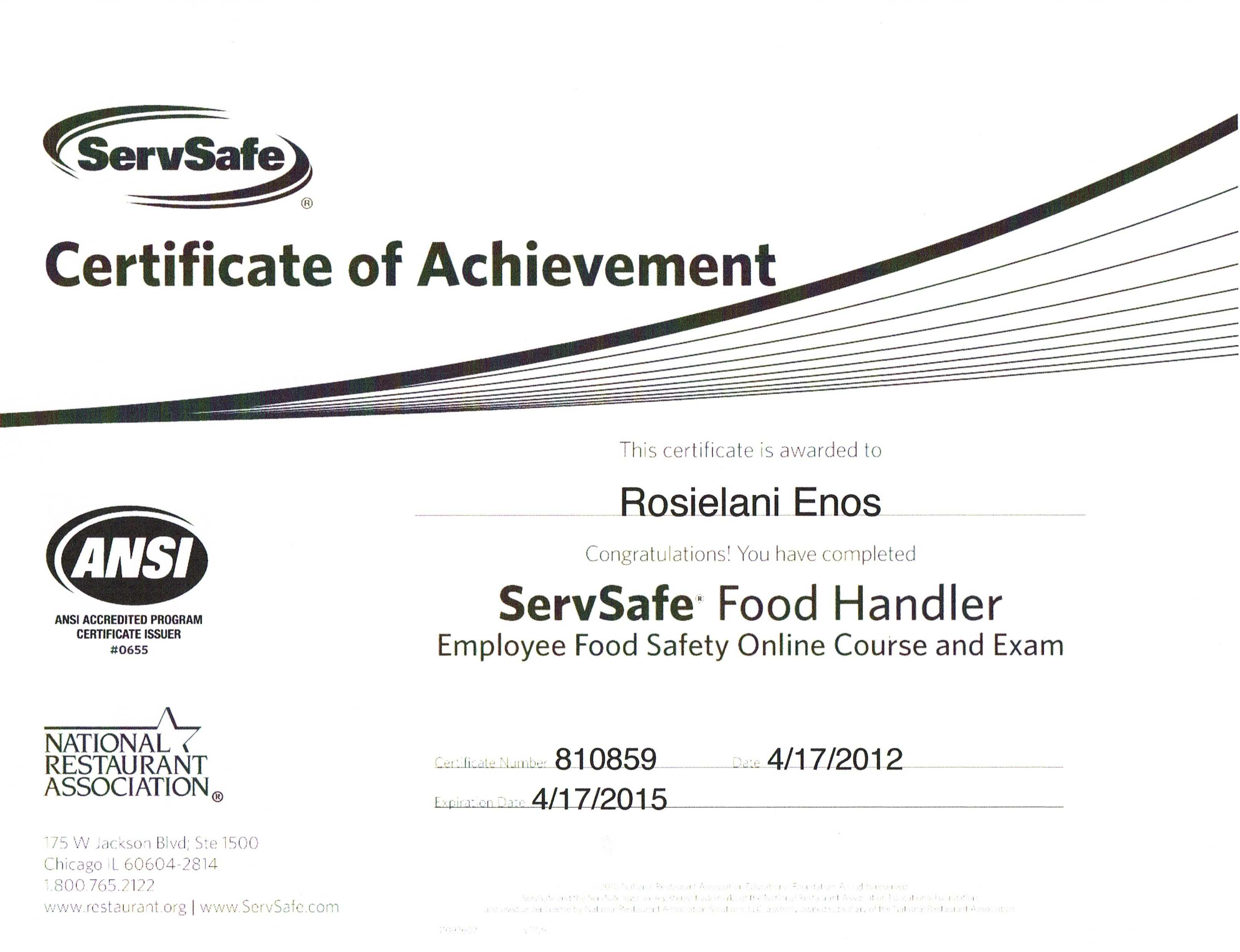 California food handlers certification food fitpacking guide rosie enos 1betcityfo Choice Image